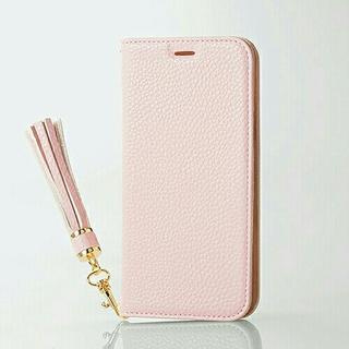 エレコム(ELECOM)のiPhone Xs/Ⅹ用 手帳型レザーケース タッセル付 ピンク(iPhoneケース)