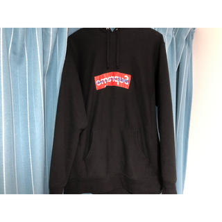 シュプリーム(Supreme)の最終値下げ supreme コムデギャルソン box logo hoodie 黒(パーカー)