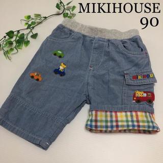 mikihouse - ミキハウス ハーフパンツ 90 車 くま きりん  春 夏 パンツ ファミリア