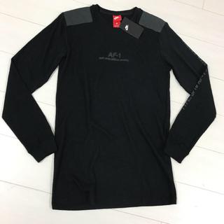 ナイキ(NIKE)のナイキ エアフォース1 AF-1 NIKE 黒 ロンT サイズS (Tシャツ/カットソー(七分/長袖))