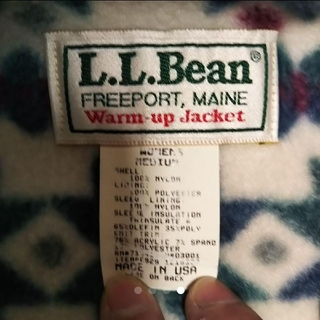 80'S USA製 名作 L.L.Bean Warm up Jacket