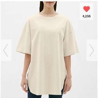 ジーユー(GU)のヘビーウェイトオーバーサイズT  M(Tシャツ(半袖/袖なし))