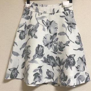 マーキュリーデュオ(MERCURYDUO)のmercuryduo 花柄台形フレアースカート(ミニスカート)