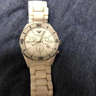 アルマーニ(Armani)のアルマーニ ARMANI 時計 白 クロノグラフ(腕時計)
