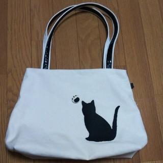 【2月末まで】猫 シルエット トートバッグ A4(バッグ)