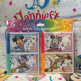 ディズニー(Disney)のディズニーリゾート限定 グランドフィナーレ チケット柄 メモ 1点(ノート/メモ帳/ふせん)