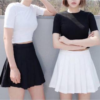 アメリカンアパレル(American Apparel)のアメアパ テニススカート ブラック XS(ミニスカート)