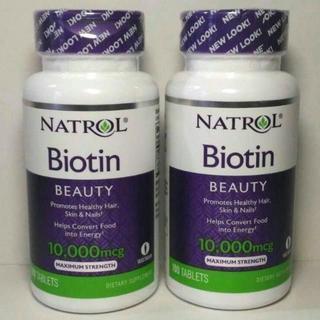 NATROL ビオチン 10000mcg 100タブレット ×2個 送料込み(ビタミン)