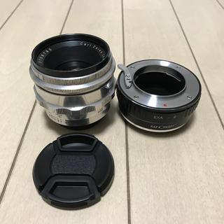 ソニー(SONY)のぐるぐるボケレンズ carl zeiss jena biotar 58mm f2(レンズ(単焦点))