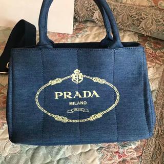 PRADA - セール 1点のみ   プラダ カナパ ブルー ハンドバッグ