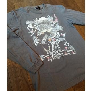 ティーケー(TK)のTK 和柄ロンティー ロングTシャツ グレー(Tシャツ/カットソー(七分/長袖))