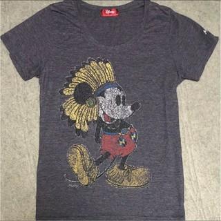 ディズニー(Disney)のDisney/ミッキーマウス/インディアン/ネイティブ/Tシャツ/ヴィンテージ(Tシャツ(半袖/袖なし))