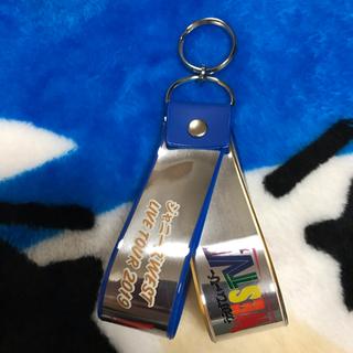 ジャニーズウエスト(ジャニーズWEST)のジャニーズWEST 銀テストラップ 青(キーホルダー/ストラップ)
