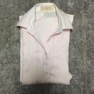 アオキ(AOKI)のAOKI シャツ/ブラウス ペールピンク 5号(シャツ/ブラウス(長袖/七分))