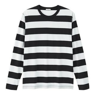 ジーユー(GU)のGU ジーユー ワイドボーダークルーネックT(Tシャツ/カットソー(七分/長袖))