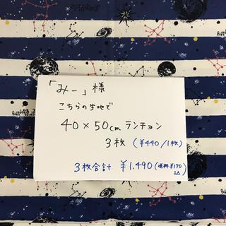 みー様専用♡ 40×50ランチョンマット 3枚(キッチン小物)
