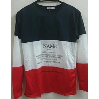 ジーユー(GU)の値下げしました!!シンプルメンズカットソー XL ツートーンカラー(Tシャツ/カットソー(七分/長袖))