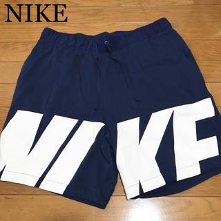 ナイキ(NIKE)の★美品★NIKE ショートパンツ メンズ 紺色 ビッグロゴ デカロゴ (ショートパンツ)