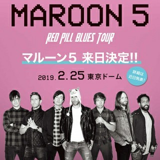 Maroon5 2/15 東京ドーム S席(海外アーティスト)
