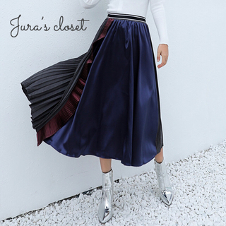マルチ プリーツスカート♡グッチ chesty トッカ ランバン リリーブラウン(ロングスカート)