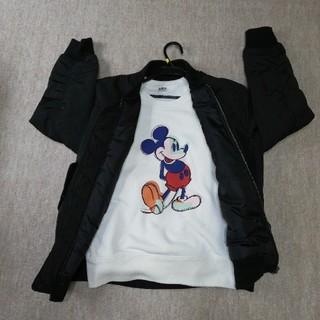 ディズニー(Disney)のDisney ミッキートレーナー⭐MA-1 ブルゾンジャンパー(トレーナー/スウェット)
