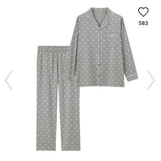 ジーユー(GU)のジーユー GU gu パジャマ 長袖 ドット 水玉 ルームウェア(その他)