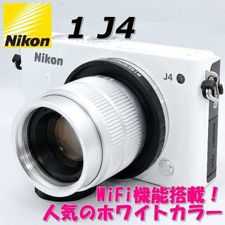 ニコン(Nikon)の☆WiFi搭載でスマホ転送!☆ Nikon ニコン 1 J4 MFレンズセット(ミラーレス一眼)