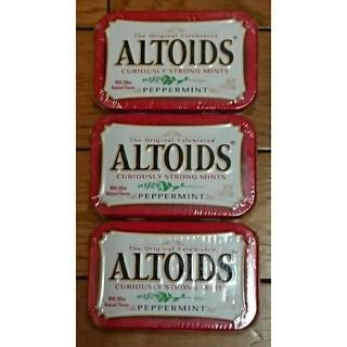 ☆アルトイズ  altoids ミント缶☆ 3缶セット 新品未開封♪(菓子/デザート)