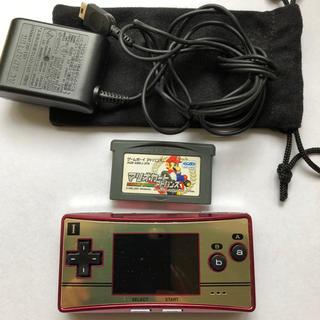 ニンテンドウ(任天堂)のゲームボーイミクロ マリオカート付(携帯用ゲーム本体)