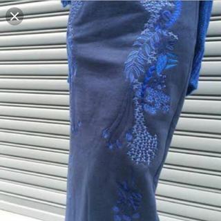 マメ(mame)のmame  刺繍 スウェット スカート(ロングスカート)