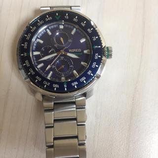 カシオ(CASIO)のCASIO WIREDダイバー防水型カジュアル腕時計・三基盤付き(金属ベルト)
