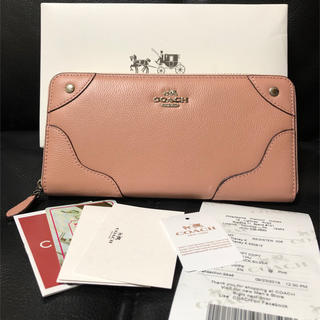 COACH -  COACH 長財布  新品未使用  桜カラー