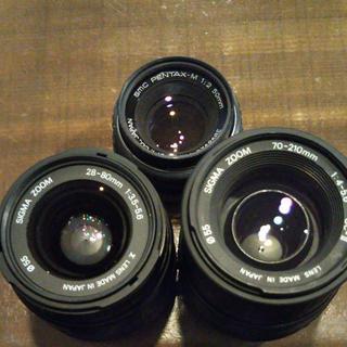 ペンタックス(PENTAX)のPENTAX smc 1:2 50mm美品1個&SIGMAジャンク2個(レンズ(ズーム))