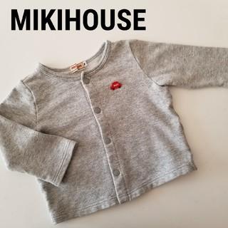 ミキハウス(mikihouse)のMIKIHOUSE★カーディガン 70〜80★グレー(カーディガン/ボレロ)