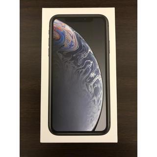 アップル(Apple)のiPhoneXR 64G ブラック simフリー(スマートフォン本体)
