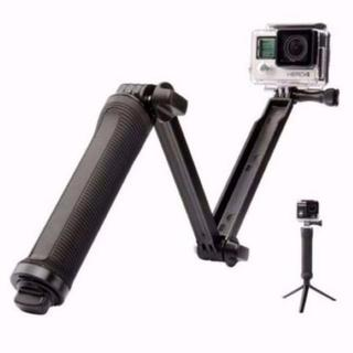 GoPro 対応 3Way 自撮り棒 軽量 持ちやすいグリップ