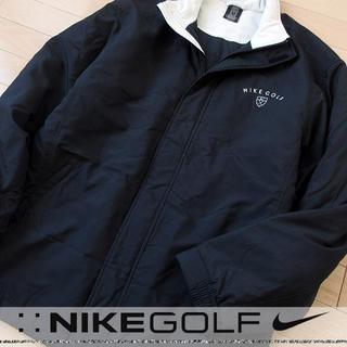 ナイキ(NIKE)の美品 Lサイズ NIKE GOLF ナイキ 中綿ナイロンジャケット ブラック(ウエア)
