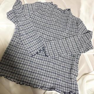 ロキエ(Lochie)のcheck blouse(シャツ/ブラウス(長袖/七分))