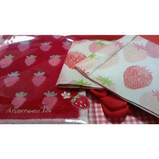 アフタヌーンティー(AfternoonTea)のいちごゴム手袋 と ミニタオル アフターヌーンティ(日用品/生活雑貨)