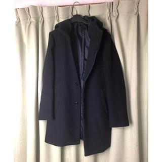 ジーユー(GU)のフード付きコート(ロングコート)
