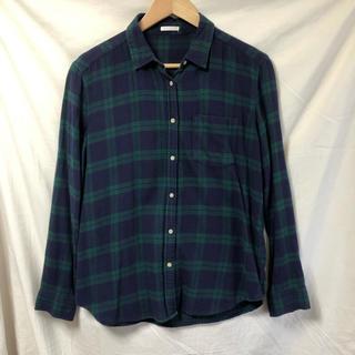 ジーユー(GU)のジーユー  チェックシャツ 長袖 Lサイズ(シャツ/ブラウス(長袖/七分))