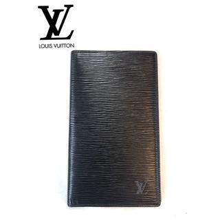 ルイヴィトン(LOUIS VUITTON)のLOUIS VUITTON エピブラック長財布 カード入れ付き(長財布)