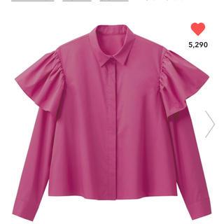 ジーユー(GU)の【春にぴったり!新品タグ付き】GUフリルシャツ(シャツ/ブラウス(長袖/七分))