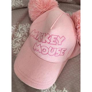 ディズニー(Disney)のミッキーポンポンキャップ ピンク(キャップ)