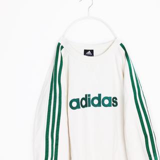 adidas - adidas アディダス 三本ライン トレーナー 緑 ストリート
