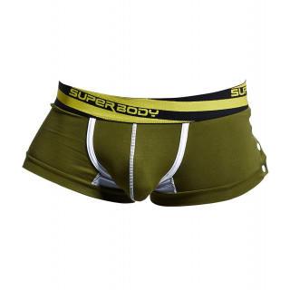 SURENOWローライズ ボクサーパンツ メンズ Lサイズ 綿100% グリーン