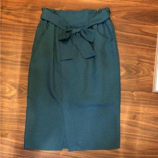 ロペピクニック(Rope' Picnic)のロペピクニック グリーン ペンシルスカート 美品(ひざ丈スカート)