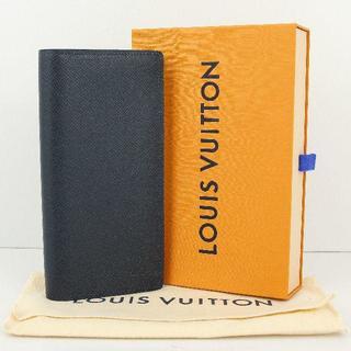 ルイヴィトン(LOUIS VUITTON)のルイヴィトン ポルトフォイユブラザ タイガ 二つ折り長財布 ネイビー(長財布)