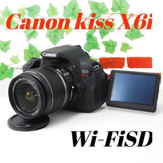 キヤノン(Canon)の❤️スマホ転送&自撮り❤️バッテリー2個❤️Canon kiss X6i(デジタル一眼)