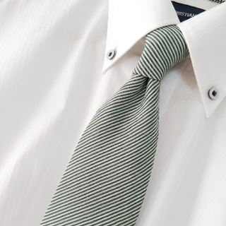 セルッティ(Cerruti)の美品 CERRUTI シルク ストライプ ネクタイ フランス製(ネクタイ)
